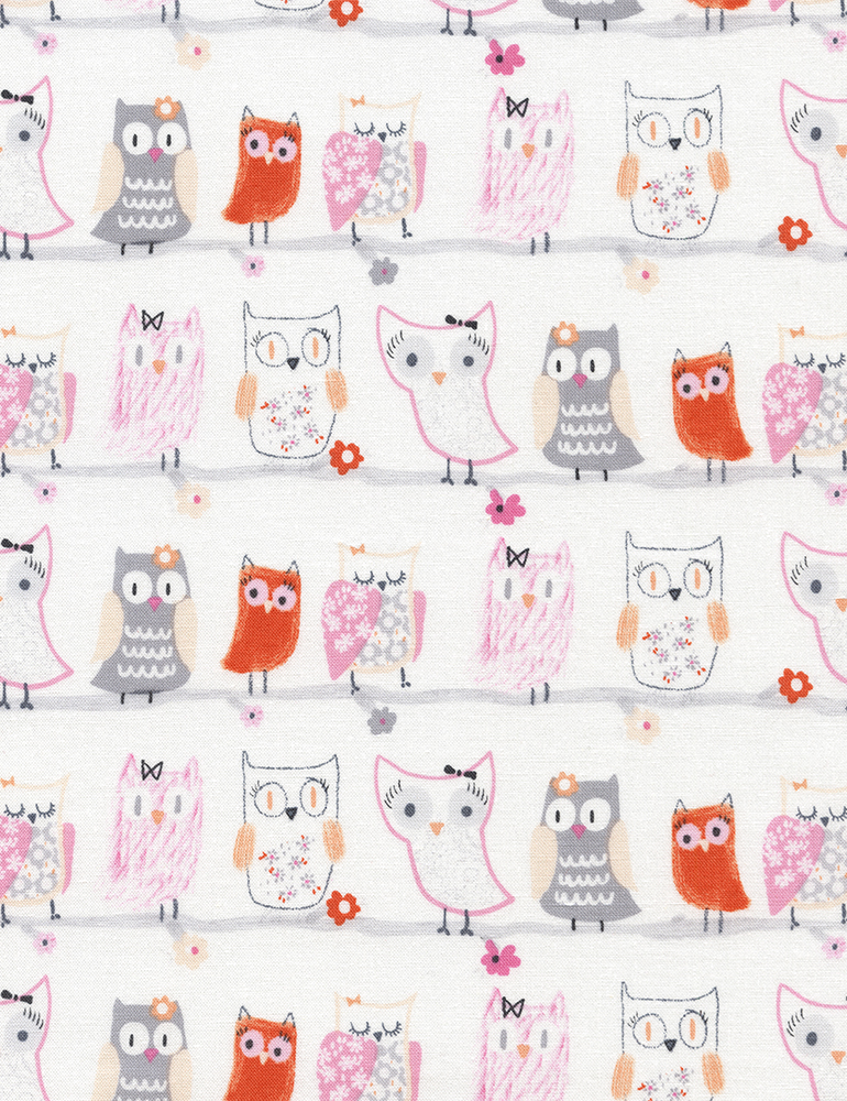 Flora and Fawn - Pastel Owls
