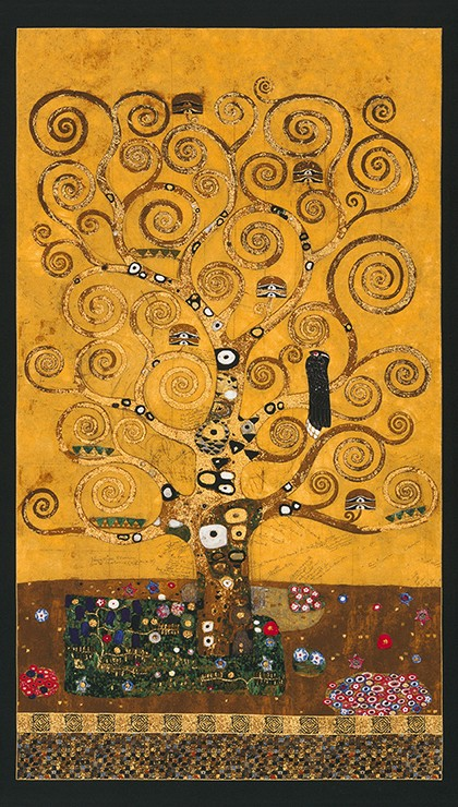Gustav Klimt - panel The Tree of Life