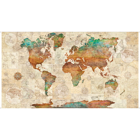 Wanderlust - World Map Panel