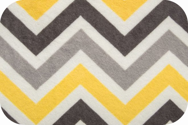 Minky Zig Zag Cuddle® Lemon/Silver/Charcoal