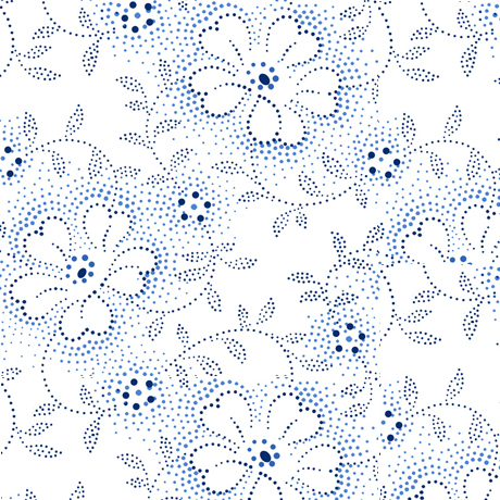 Danbury - Dotted Viney Floral White