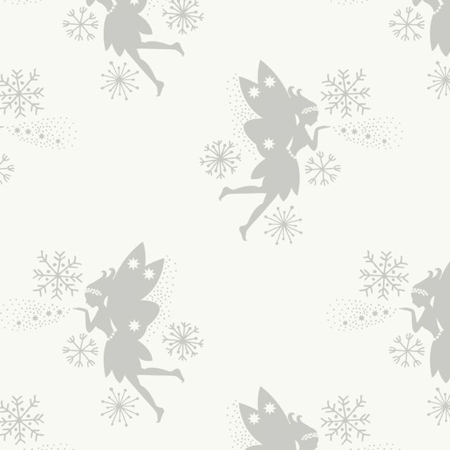 Fairies on Snow Metallic