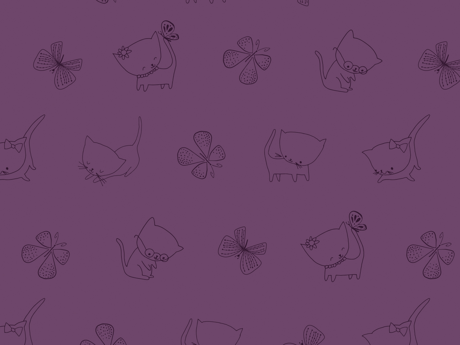 Kitties in Amethyst