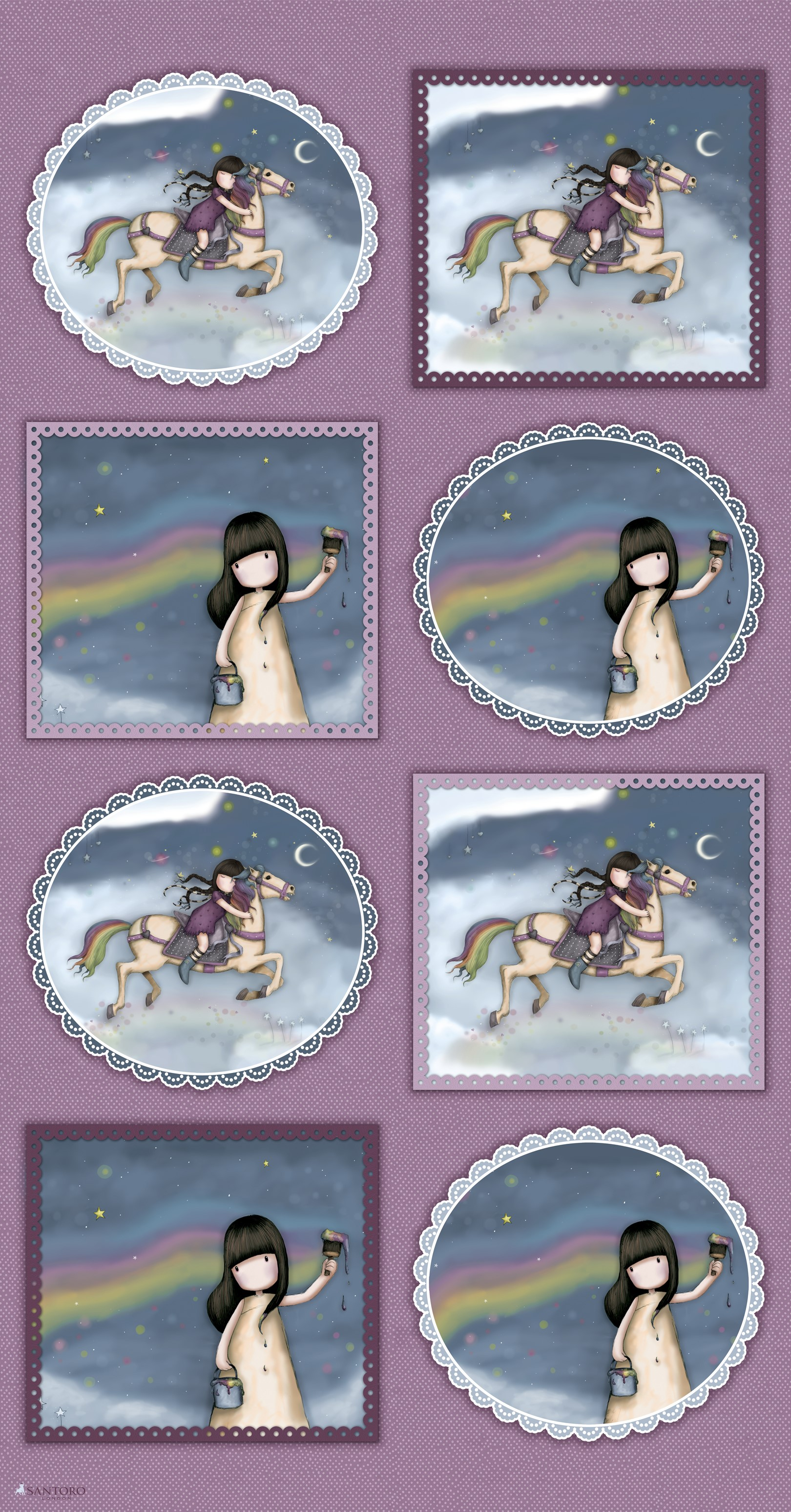 Rainbow Dreams-Gorjuss - panel