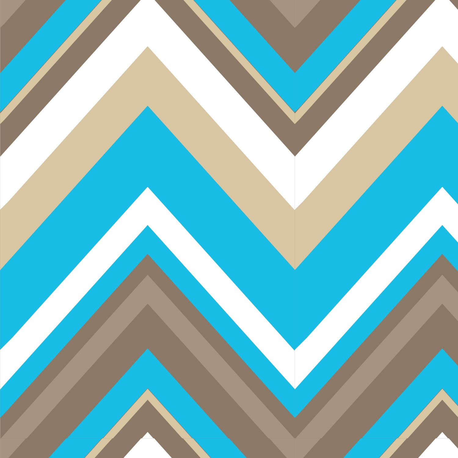 Chevron Bright Now Aqua - 29cm