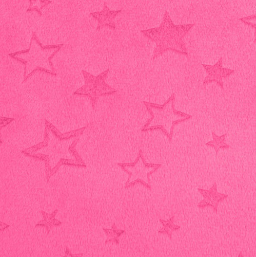 Minky Embossed Star Cuddle® Fuchsia