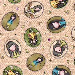 Birds of a Feather - Girl Patches tossed beige