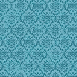 Birds of a Feather - Damask blue - 13cm