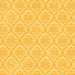 Birds of a Feather - Damask yellow