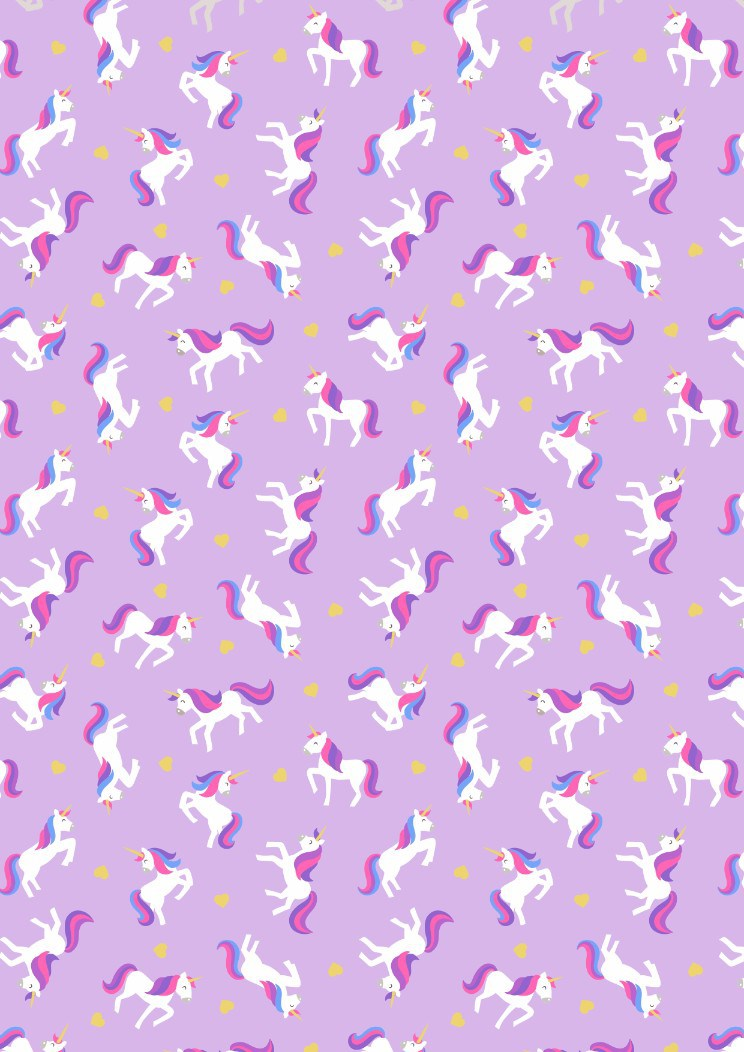 Unicorns on lavender
