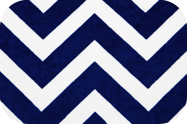 Minky Chevron Cuddle® Midnight Blue/Snow