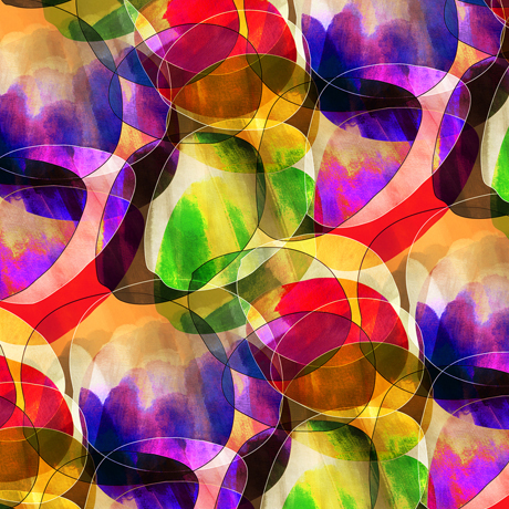 Transcendence Abstract Bubbles Orange