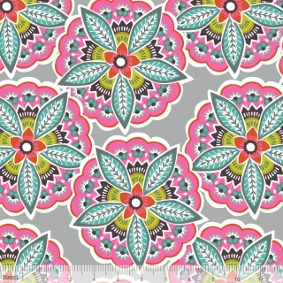 Lottie collection - Majestic Blooms Lt Grey