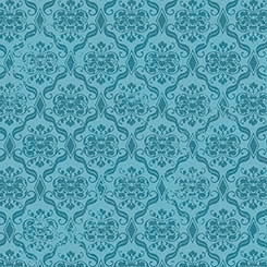 Birds of a Feather - Damask blue