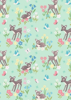 Little deer on mint